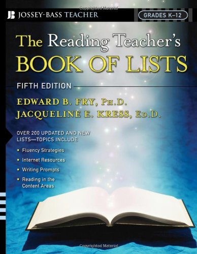 9780787982577: The Reading Teacher's Book of Lists (J-B Ed: Book of Lists)