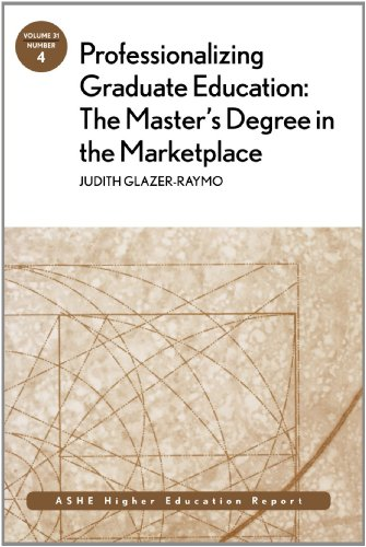 9780787983611: Professionalizing Graduate Education: The Master's Degree In The Marketplace