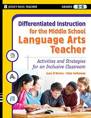 9780787984663: Differentiated Instruction for the Middle School Language Arts Teacher: Activities and Strategies for an Inclusive Classroom