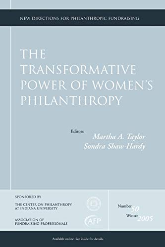 9780787986179: The Transformative Power of Women's Philanthropy: New Directions for Philanthropic Fundraising, Number 50