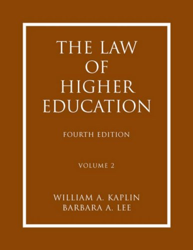 9780787986568: The Law of Higher Education