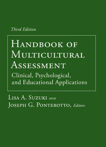 Handbook of Multicultural Assessment – Clinical, Psychological,: Suzuki, Lisa A./