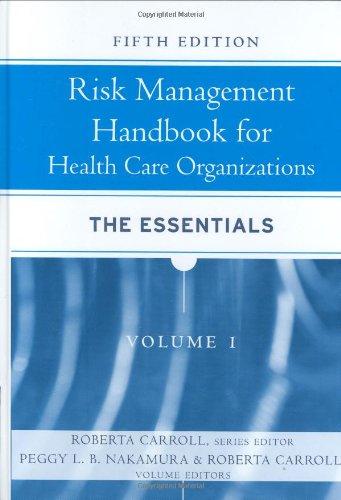 9780787987923: Risk Management Handbook for Health Care Organizations, 3 Volume Set