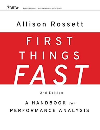 9780787988487: First Things Fast: A Handbook for Performance Analysis (Essential Knowledge Resource (Hardcover))