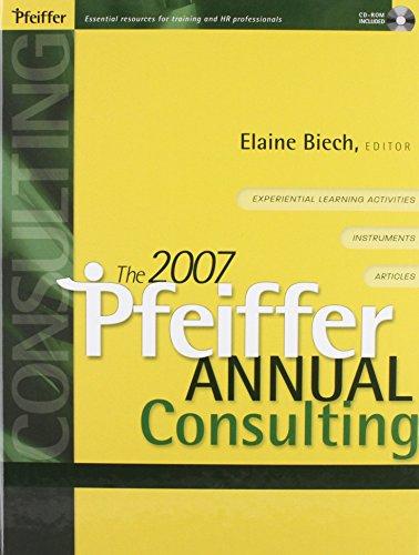 9780787994150: 2007 Pfeiffer Annual Set (Two volumes: Consulting and Training)