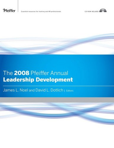 9780787995218: 1: The 2008 Pfeiffer Annual, CD-ROM Included: Leadership Development