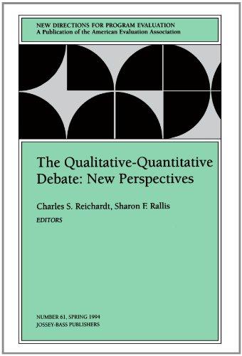 9780787999674: The Qualitative-Quantitative Debate: New Directions for Program Evaluation, Number 61 (J-B PE Single Issue (Program) Evaluation)