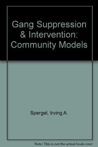 9780788118685: Gang Suppression & Intervention: Community Models