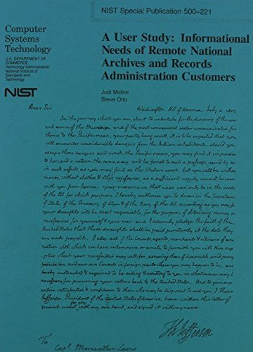 User Study: Informational Needs of Remote National Archives and Records Administration Customers: ...