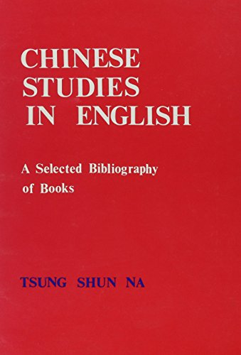 9780788135545: Chinese Studies In English: A Selected Bibliography Of Books