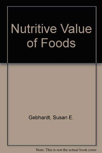 9780788144592: Nutritive Value of Foods