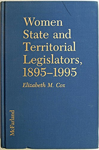 9780788167348: Women State & Territorial Legislators, 1895-1995