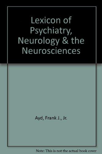 9780788169595: Lexicon of Psychiatry, Neurology & the Neurosciences