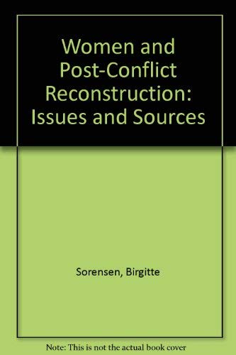 9780788174889: Women and Post-Conflict Reconstruction: Issues and Sources