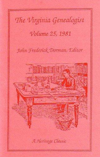 9780788402128: The Virginia Genealogist (Volume 25)