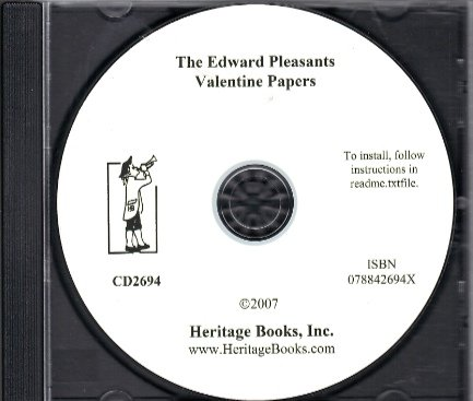9780788426940: The Edward Pleasants Valentine Papers: Abstracts of Records in the Local and General Archives of Virginia