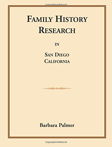 Family History Research in San Diego, California: Barbara Palmer