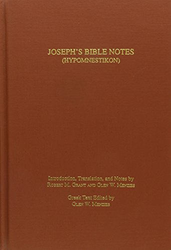 9780788501951: Joseph's Bible Notes (Hypomnestikon)