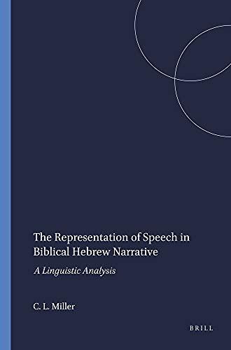 9780788502484: The Representation of Speech in Biblical Hebrew Narrative: A Linguistic Analysis (Harvard Semitic Monographs)