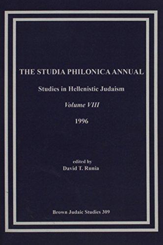 The Studia Philonica Annual VIII, 1996: David T. Runia