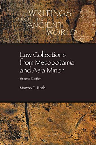 9780788503788: Law Collections from Mesopotamia and Asia Minor (Dissertation Series / Society of Biblical Literature)