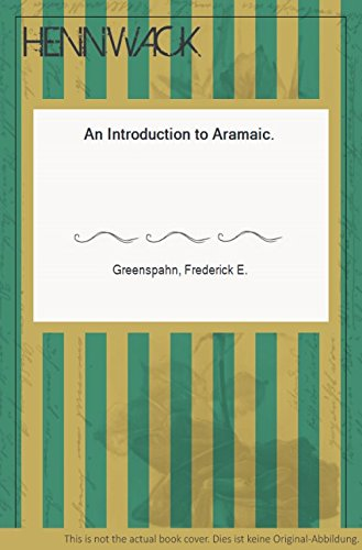 9780788504631: Introduction to Aramaic (Resources for Biblical Study, No 38)