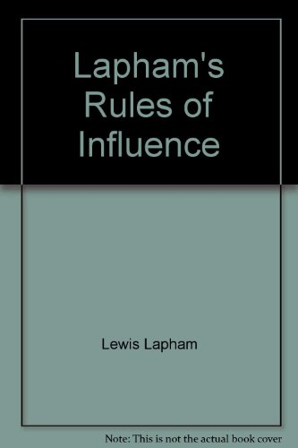 Lapham's Rules of Influence (0788748882) by Lewis Lapham