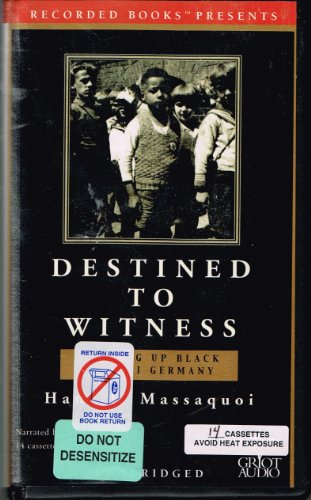 9780788751196: Destined to Witness: Growing Up Black in Nazi