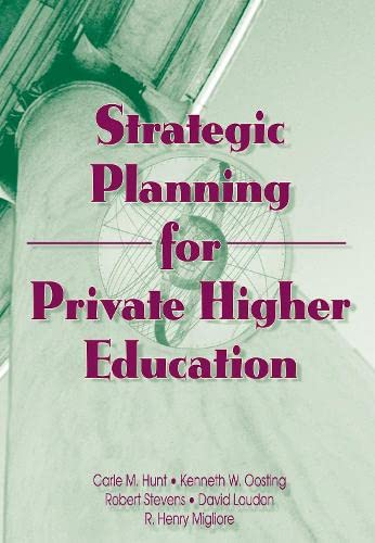 9780789001917: Strategic Planning for Private Higher Education (Haworth Marketing Resources)