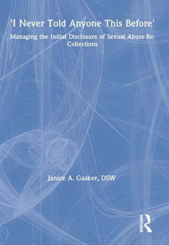 9780789004611: I Never Told Anyone This Before: Managing the Initial Disclosure of Sexual Abuse Re-Collections