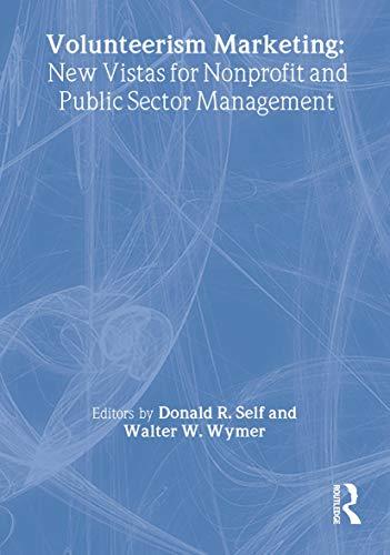 Volunteerism Marketing: Wymer, Walter W. Jr.