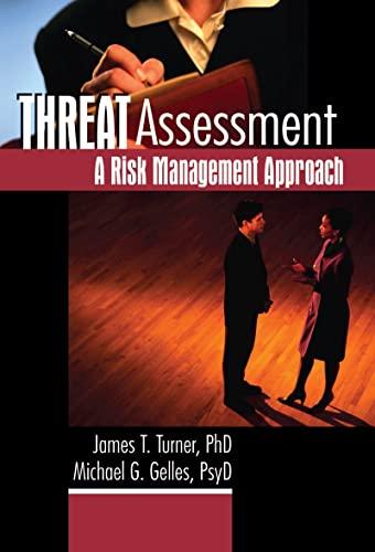 9780789016270: Threat Assessment: A Risk Management Approach