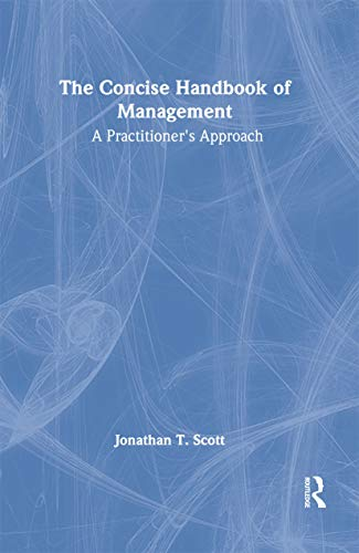 9780789026477: The Concise Handbook of Management: A Practitioner's Approach