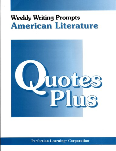 9780789102799: Quotes Plus (Weekly Writing Prompts: American Literature)