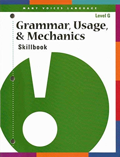 Grammar, Usage, & Mechanics Skillbook (Level G)