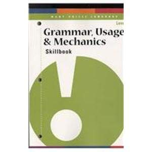 9780789170620: Grammar, Usage, & Mechanics Skillbook Level L: Grade 12 (Many Voices Language)