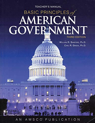 9780789189110: Basic Principles of American Government Teachers Manual