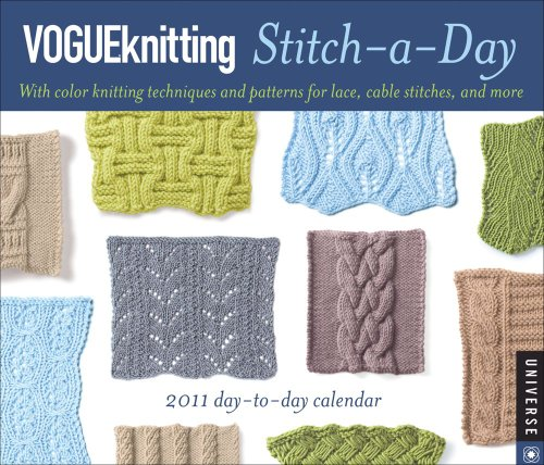9780789321121: Vogue Knitting Stitch-a-Day: 2011 Day-to-Day Calendar