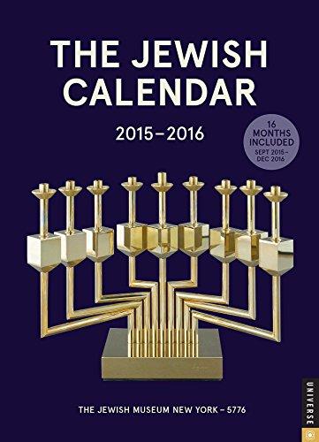 9780789329646: The Jewish Calendar 2015-2016: Jewish Year 5776 16-Month Engagement Calendar