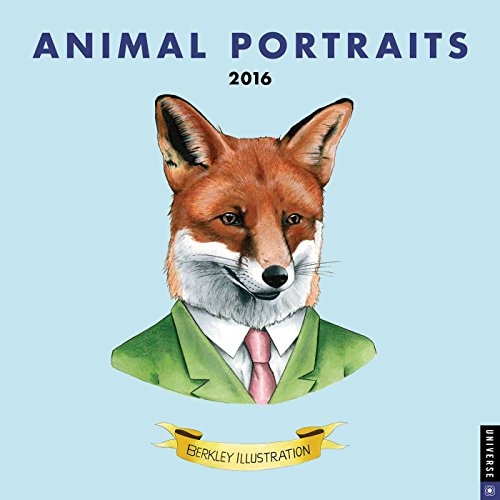 9780789329707: Animal Portraits 2016 Wall Calendar
