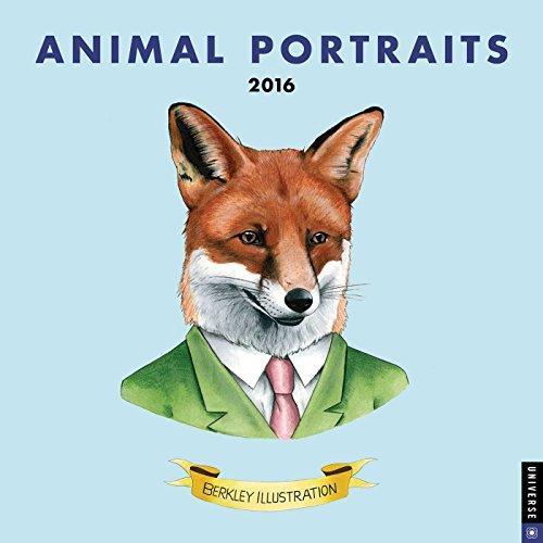 9780789329707: Animal Portraits 2016 Wall Calendar