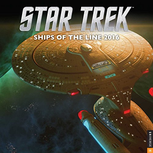 9780789330000: Star Trek 2016 Wall Calendar: Ships of the Line