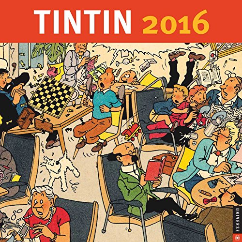 9780789330062: Tintin 2016 Wall Calendar
