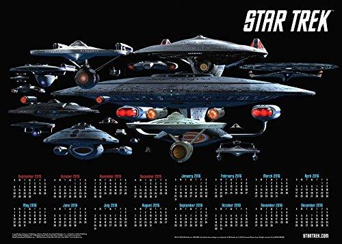 9780789330130: Star Trek 2015-2016 16-Month Calendar Poster