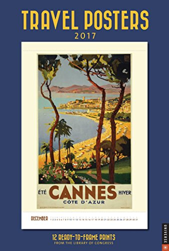 9780789331359: Travel Posters 2017 Poster Calendar (Poster Wall 11x16)