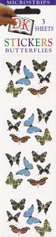 9780789431301: Micro Sticker Strips: Butterflies (Pack of 12)
