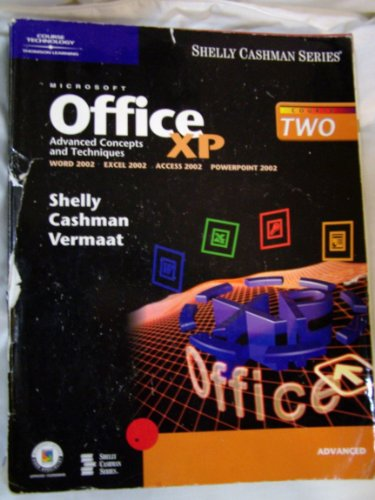 9780789562906: Microsoft Office XP: Advanced Concepts and Techniques (Shelly Cashman)