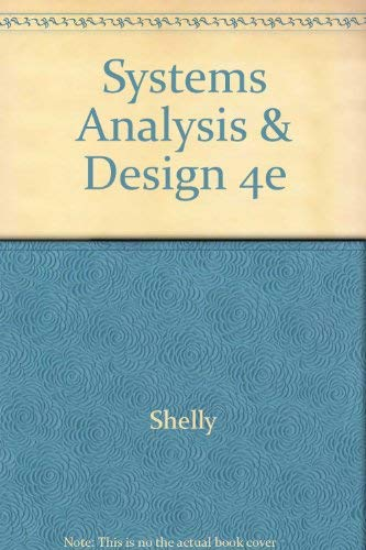9780789568281: Systems Analysis and Design, Fourth Edition