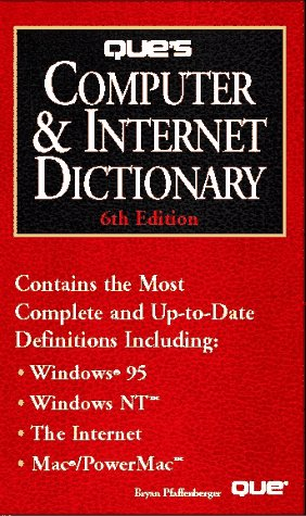 9780789703569: Que's Computer & Internet Dictionary