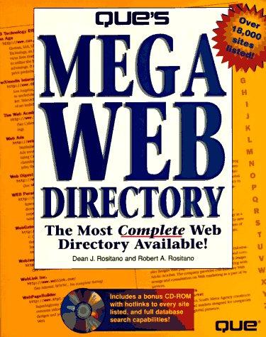 9780789705785: Que's Mega Web Directory